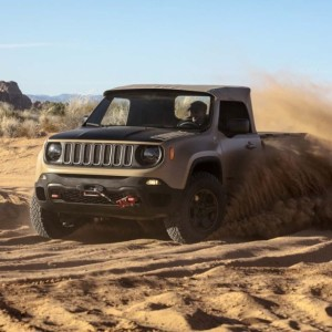 Jeep's Nick Cappa pushes the Renegade Comanche through a turn on the Monitor & Merrimac Trail.
