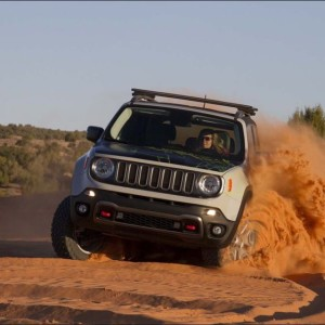 Nina Barlow of Barlow Adventures pilots the Jeep Renegade Commander near Moab.